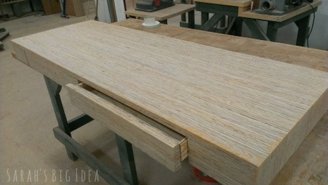 DIY Plywood Desk - Drawer Fronts
