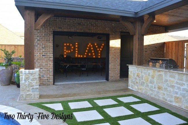 DIY Marquee Letters - Completed Work