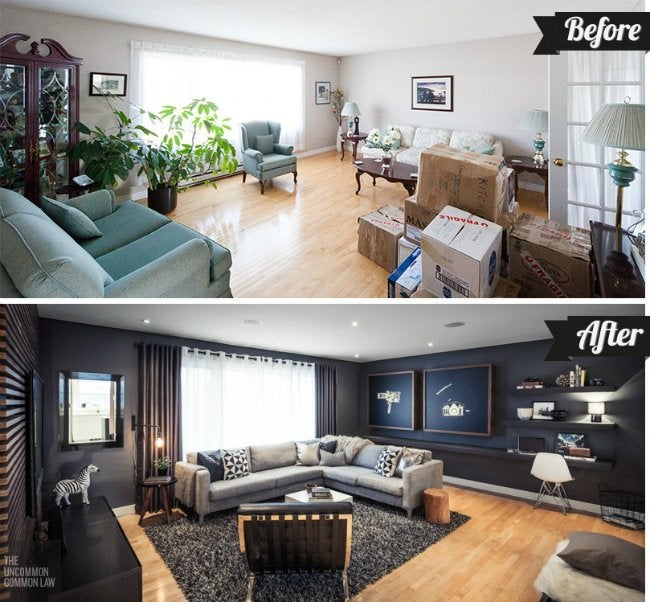 Before After A Transitional Living Room Makeover Sugar Cloth