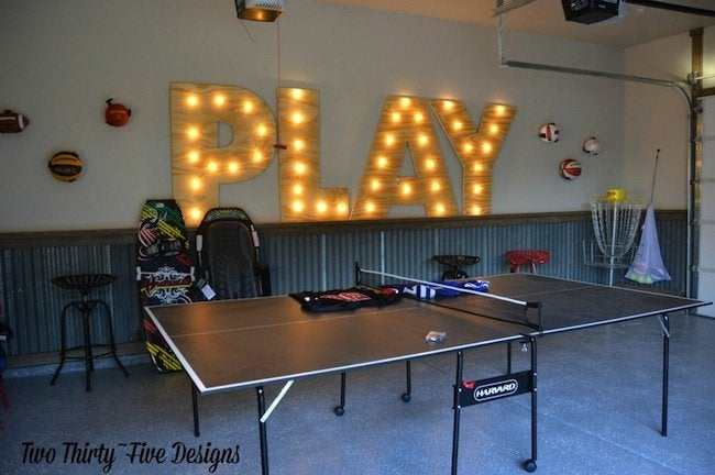 DIY marquee letters - installed on wall