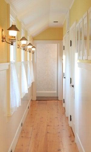 Softwood Flooring - Hallway Installation