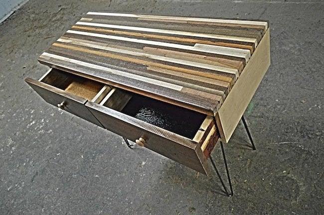 Multi-stain wood desk - Mwanzi