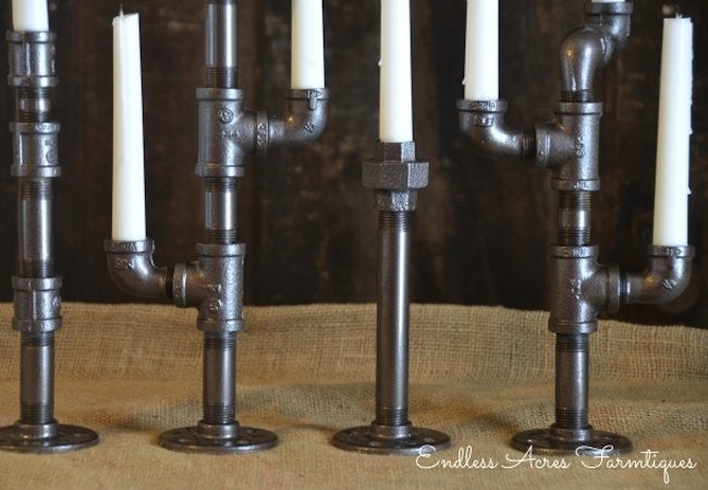 DIY Candle Holder - Plumbing Pipes