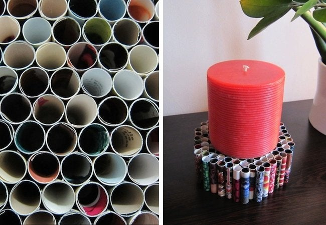 DIY Candle Holder - Rolled Paper