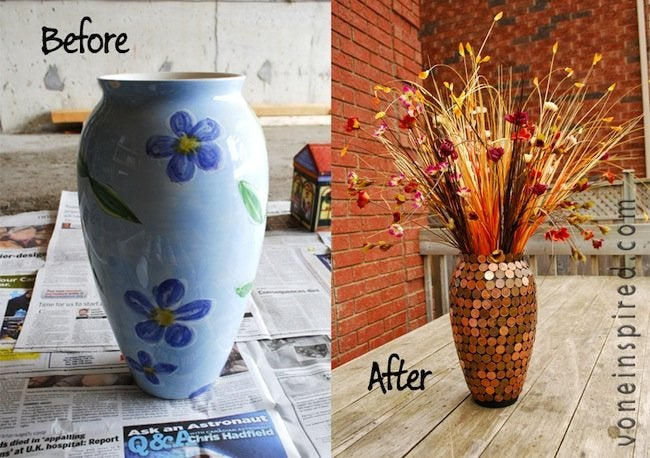 DIY Penny Vase - Before and After