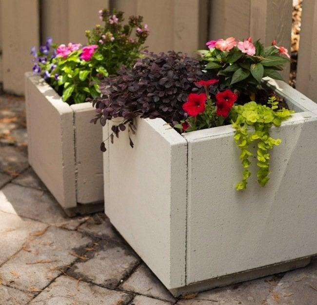 Diy concrete planters bob vila for How to make cement at home
