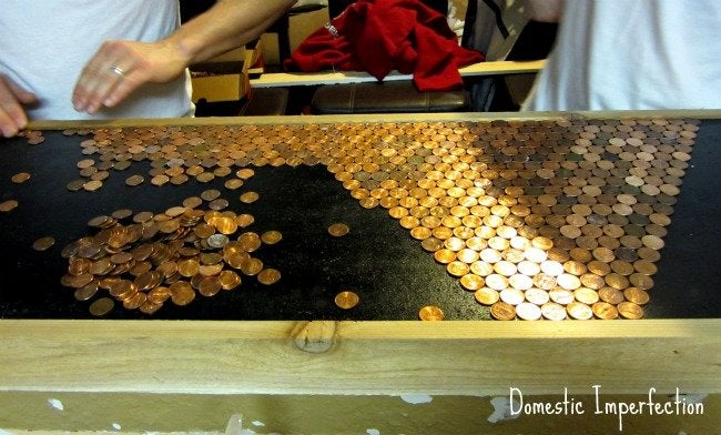 DIY penny countertop - second try