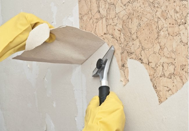 how to remove stubborn wallpaper adhesive