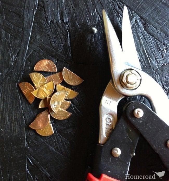 DIY Penny Table - cut