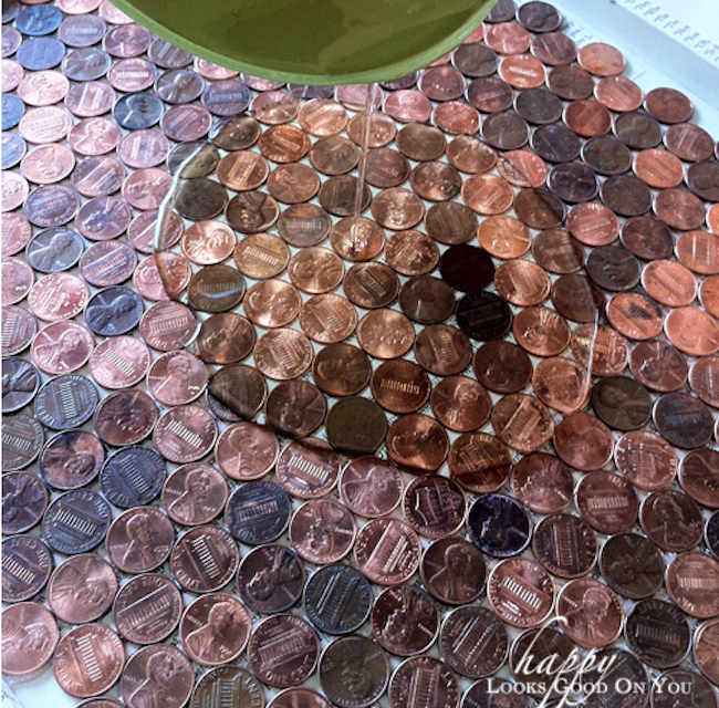 DIY Penny Tray - pour epoxy