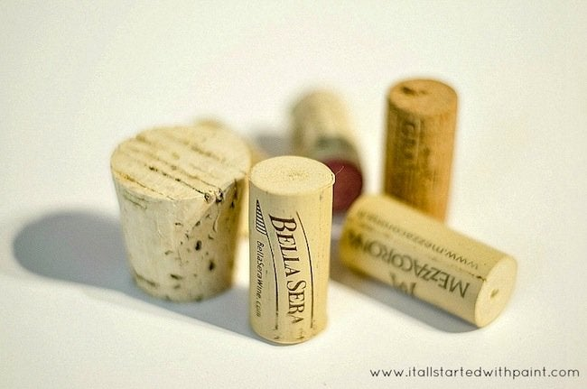 DIY Wine Cork Planter - corks