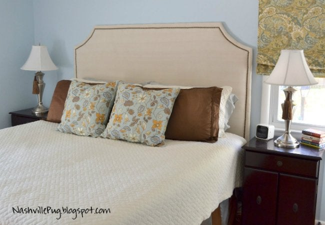 Uses for Drop Cloths - Headboard