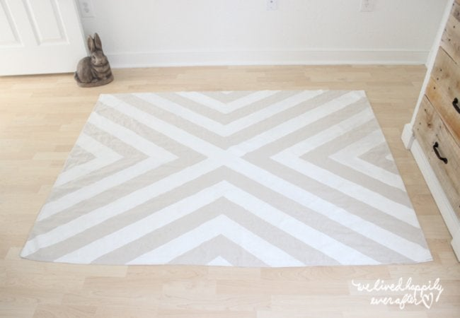 Uses for Drop Cloths - Area Rug
