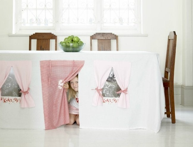 DIY Fort - Tablecloth