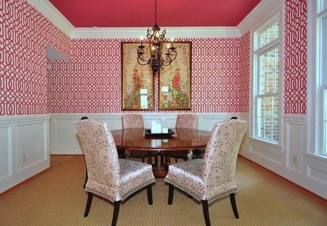 DIY Wallpaper - Dining Room