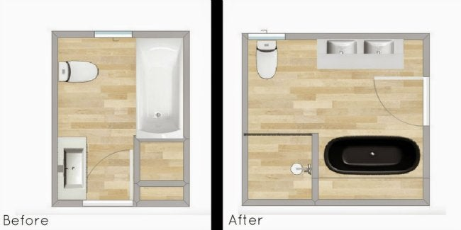 Small Bathroom Makeover - Layout