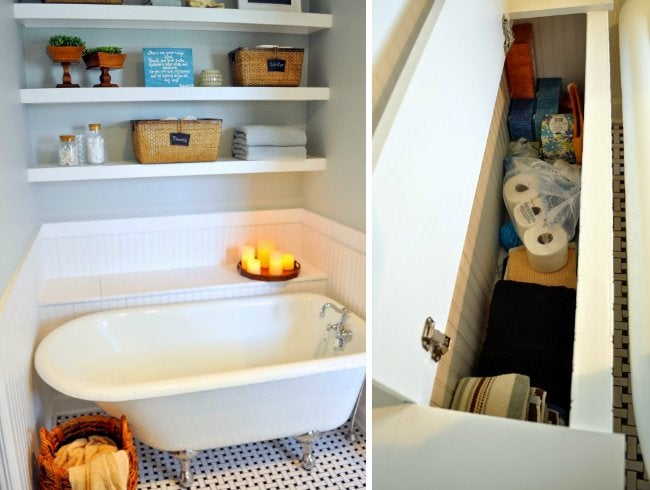 Small Bathroom Makeover - Storage