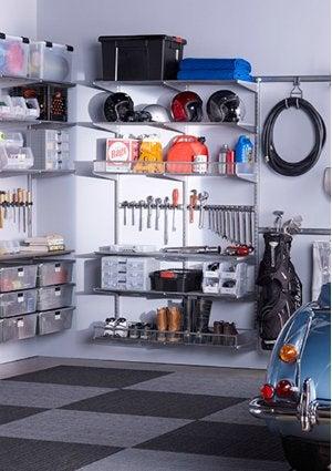 Garage Storage Ideas - Wall Shelving