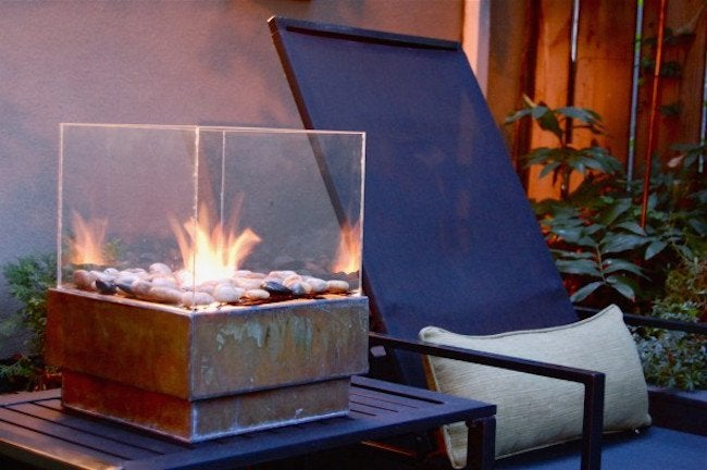 DIY Portable Fire Pit   Close Up View