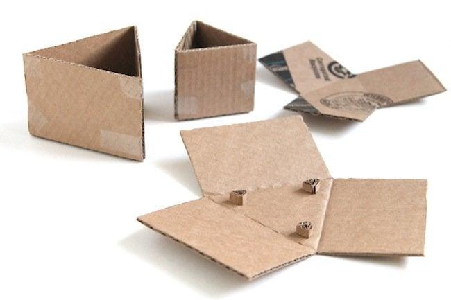 DIY Concrete Planters - cardboard