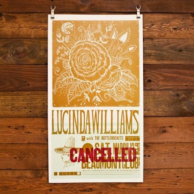 Hammerpress - Lucinda Williams poster