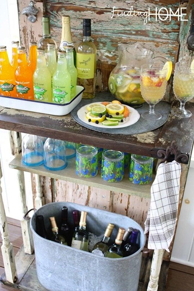 DIY Outdoor Beverage Station - finished