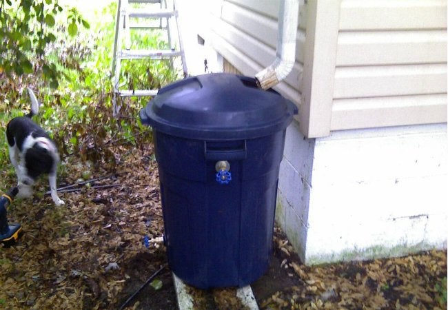 DIY Rain Barrel - Trash Can