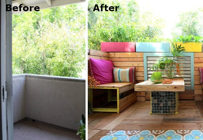Patio Makeover - Before and After 2