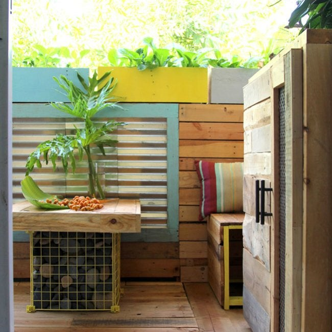 Patio Makeover - Paneling