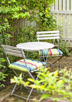 How to Clean Patio Cushions - Cafe Chairs