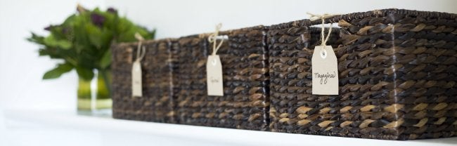 How to Declutter - Baskets