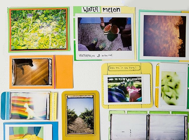 Paint Chip Crafts - Photo Frames
