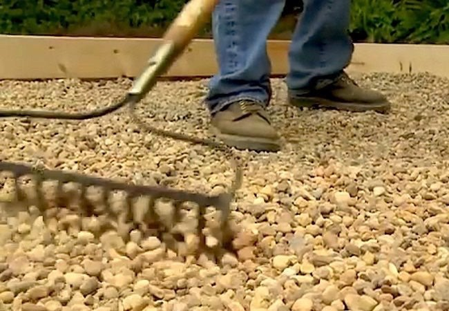 How to Build a Paver Patio - Adding Gravel