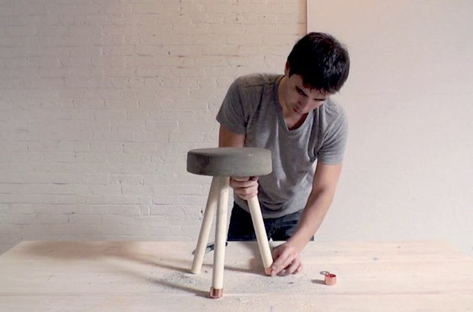 How to Make a Concrete Stool - Caps
