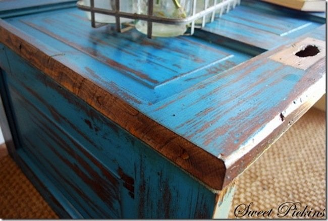 DIY Door Coffee Table - finished