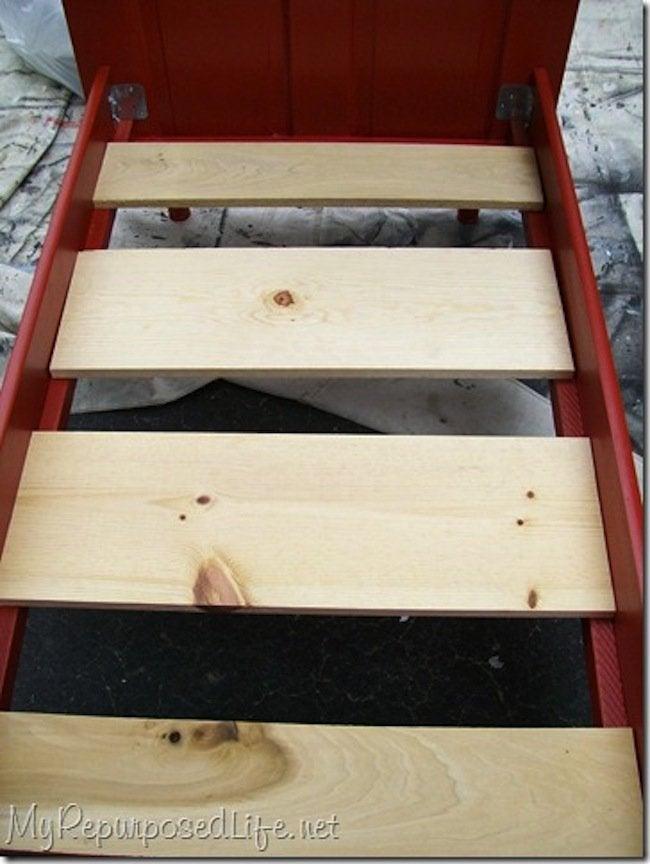 DIY Toddler Bed - planks