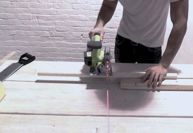 How to Make a Concrete Stool - Cutting Legs