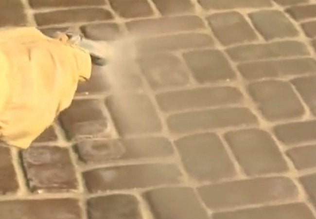 How to Build a Paver Patio - Misting