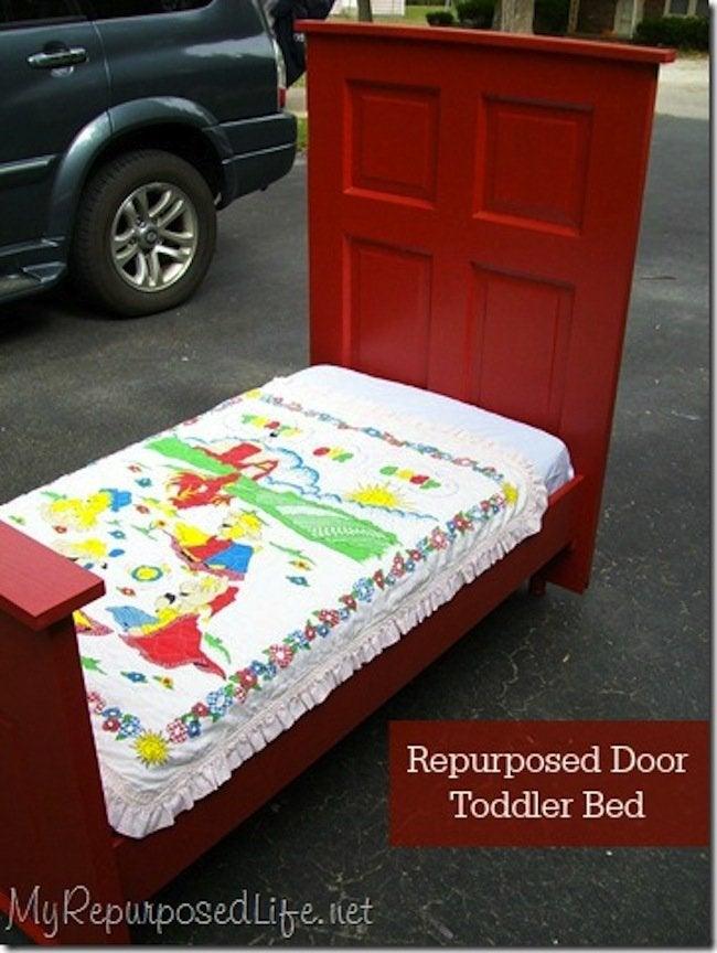 Repurposed Door Toddle Bed