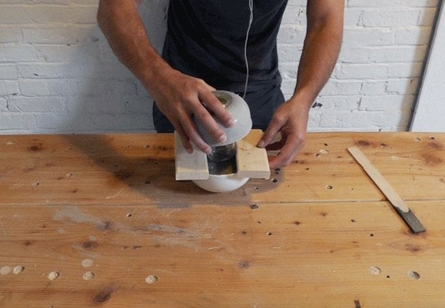 How to Make a Concrete Lamp - Second Half