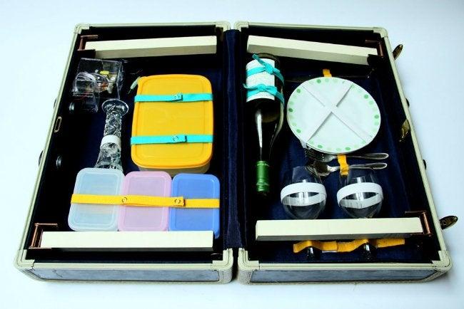 Suitcase Picnic Table - Interior