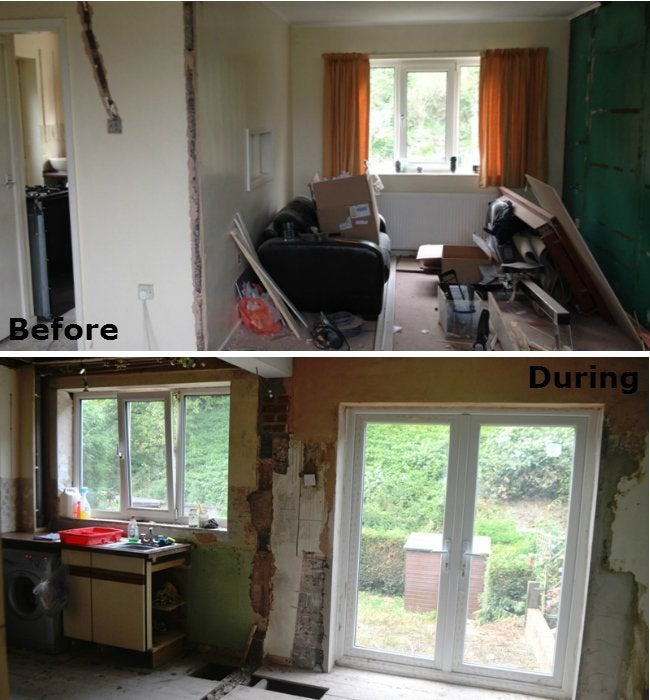 70s Kitchen Makeover - Wall Removal