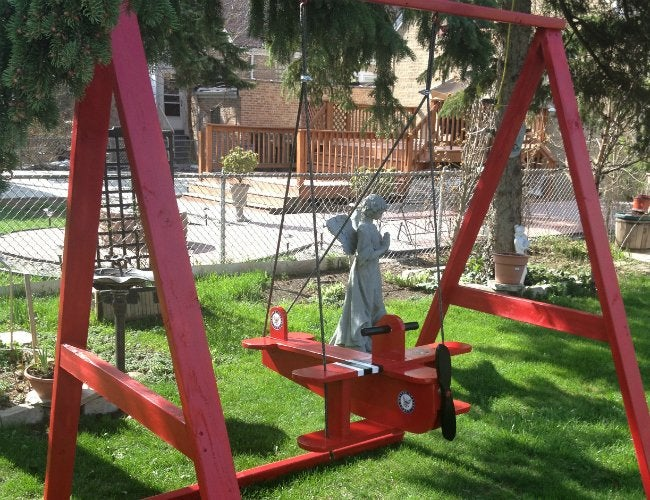 DIY Swing Set - 5 Ways to Make Your Own - Bob Vila on homemade mailbox plans, homemade clubhouse plans, homemade playground set, homemade swinging doors, homemade tire swing plans, homemade car plans, homemade arbor plans, homemade storage plans, homemade kitchen plans, homemade tools plans, homemade motorcycle plans, homemade wooden beds, homemade playground plans, homemade wagon plans, homemade sandbox plans, wooden swing plans, homemade desk plans, homemade freezer plans, homemade shelf plans, homemade wooden swings,