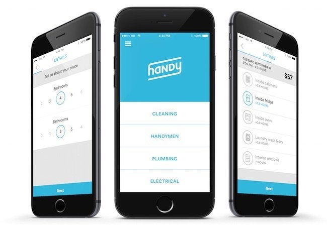 Handy Instant Booking - App Screenshots