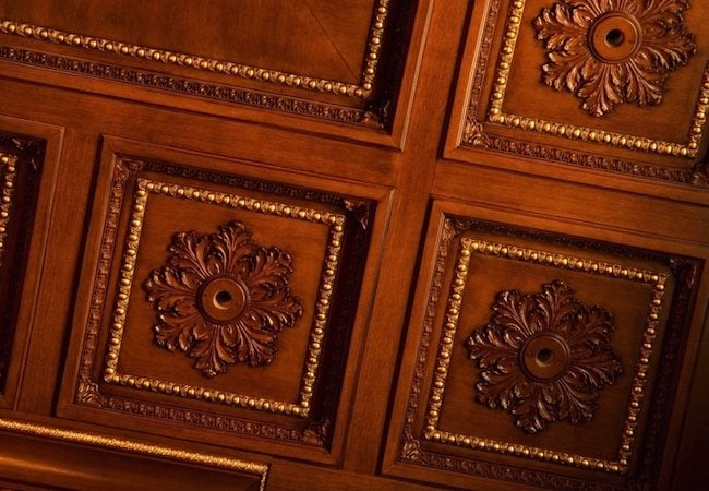 Mini Duct Air Conditioning - Coffered Ceiling