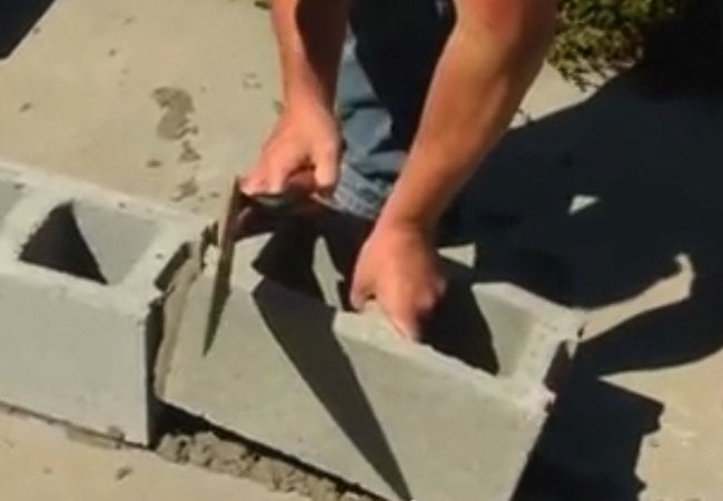 How to Make a Cinder Block Wall - Fill Blocks