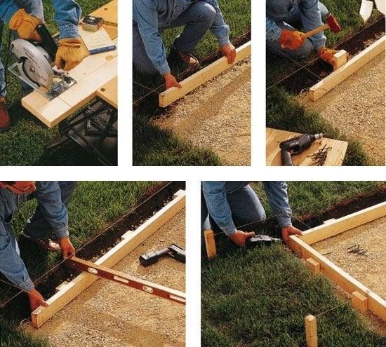 DIY Concrete Patio   Formwork