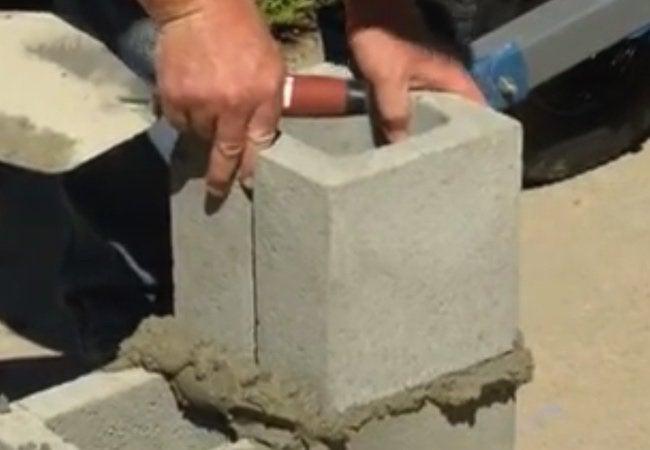 Build Concrete Pillar From Blocks