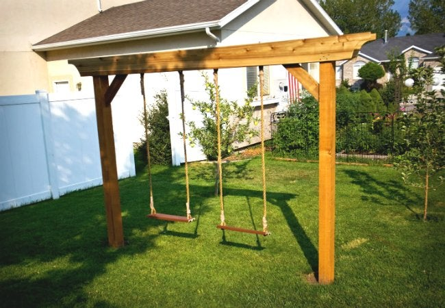 DIY Swing Set - Post Lintel