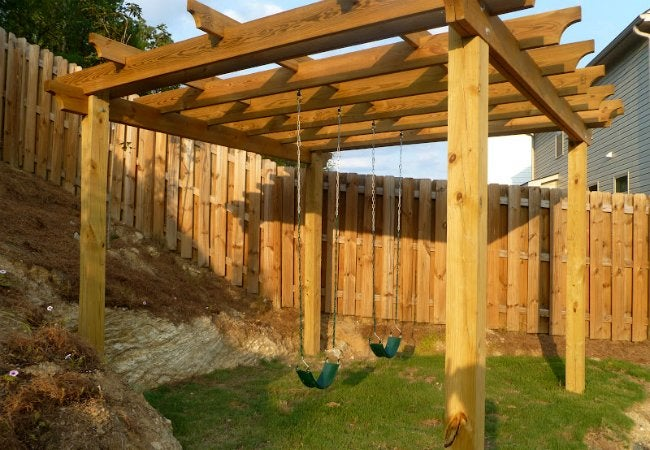 DIY Swing Set - Pergola